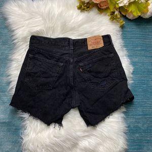 Levi's 501 Vintage Button Fly Black Jean Shorts